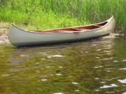 1930 EM White Canoe - image 1 of 3 16 ft. wood/canvas canoe.
