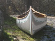 1965 Old Town Otca canoe - Image 3 of 3 This 1965 Old Town Otca canoe is 16ft long. It has had some rib and gunwale repair, new canvas and finishes.
