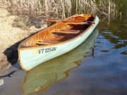 1950 Penn Yan Kingfisher wooden canoe 1950 Penn Yan Kingfisher square stern, canvas covered, 14 ft wooden canoe.