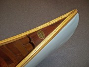"EM White Featherweight Canoe - image 3 of 3 E.M. White ""Featherweight"" 15 ft. wood/canvas canoe. Built in early 1900's in Old Town, ME.